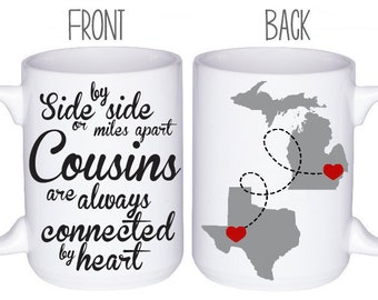Cousins Mugs - Cousin Gift Idea - Personalized Mugs - Gift For Cousin - Custom Mug - Family Reunion Gift - Best Cousin Gift Idea