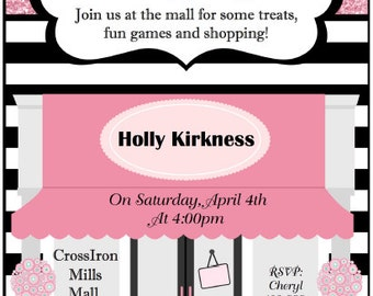 Mall Birthday Party Invitation