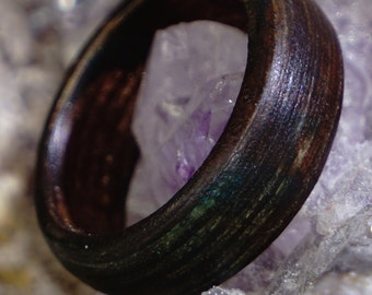 Brown wooden ring, ring of wood, finger ring, wood jewelry