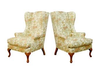 George II Style Wingback Chairs