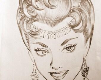 hollywood glamour hair ads 1950s