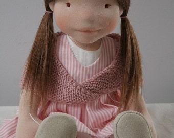 Lena 18,5 inch waldorf inspired doll, handmade doll, waldorf doll,cloth doll