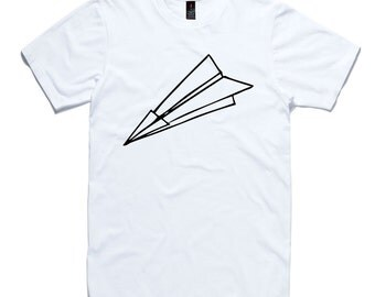 Paper Plane T-Shirt by RockPaperHeart in black or white origami