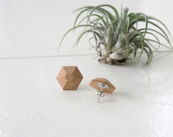 Hexagonal geometric earrings | earring | wooden jewelry