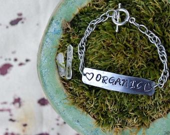 Organic Metal Stamped Bracelet