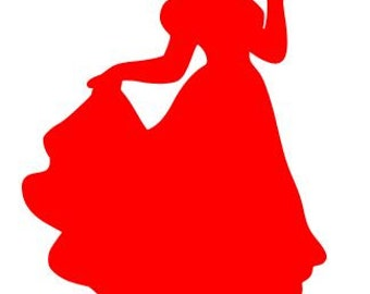 Disney Princess SNOW WHITE SILHOUETTE Vinyl Decal Sticker Car Window Laptop Wall Choose Size and Color