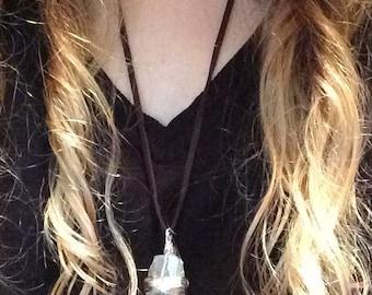 Gorgeous Quartz wire-wrapped necklace