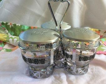Vintage Libbey Condiment Set