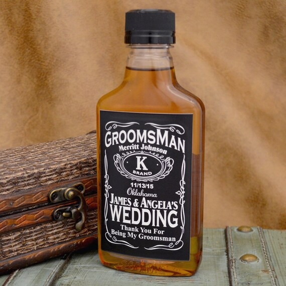 4 Custom Liquor Labels Whiskey Inspired for Groomsmen