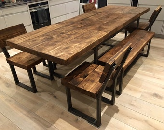 Extendable Dining Table Etsy UK