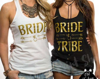 Bride Tribe Vneck. Bride Tribe Tshirt. Bride Tribe Shirt. Bride Tribe Tank. Bride Tribe Combo Set. Bride-Shirts. Bridal-Party-Shirts.