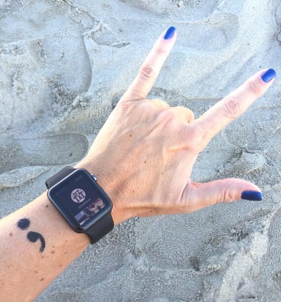 Semicolon Temporary Tattoo Set of 2 by myTaT on Etsy