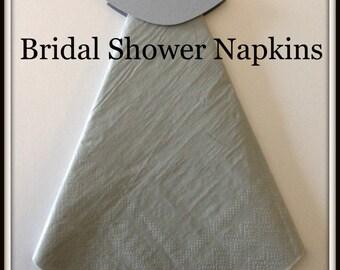 Bridal Shower Wedding Dress Bling Bridal Shower Napkins Bridal Shower Decor Bridal Shower Favors