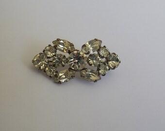 vintage brooch 1950 in a facet former jewel Crystal
