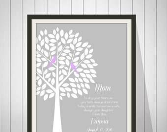 Wedding Gift for Mother In-Law - Future Mom In-Law Gift - Thank You Print - Personalized Gift from Bride - Available in any color - 46977