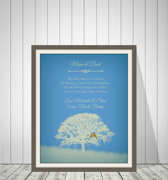 50th wedding anniversary gift 50th golden by beautifulprint