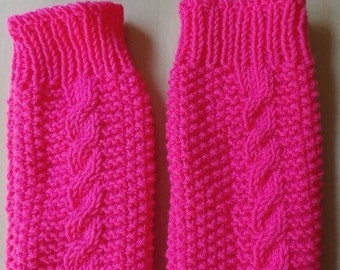 Knitting Pattern: Girls Cable Headband and Leg Warmers