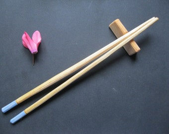 Hand made chopsticks and stand in cherry