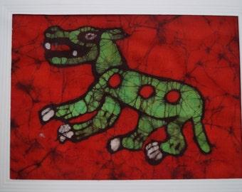 Batik Card of a Mayan Weasle