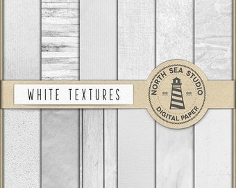 NATURAL TEXTURE, White Textures Paper, Texture Digital Papers, White Texture Set, Wood, Grunge, Marble, Linen, Cardboard, Gesso, BUY5FOR8