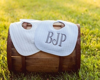 Boys Monogramed Bib | Quilted Bib | Baby Bib | Baby Boy Gift | Baby Gift | Baby Shower Gift | Personalized Gift For Babies