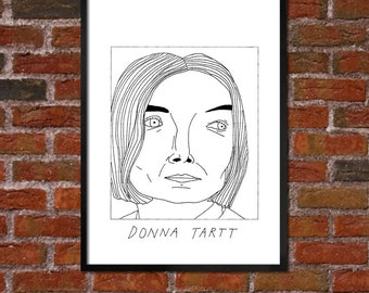 Badly Drawn Donna Tartt - Literary Poster - *** BUY 4, GET A 5th FREE***