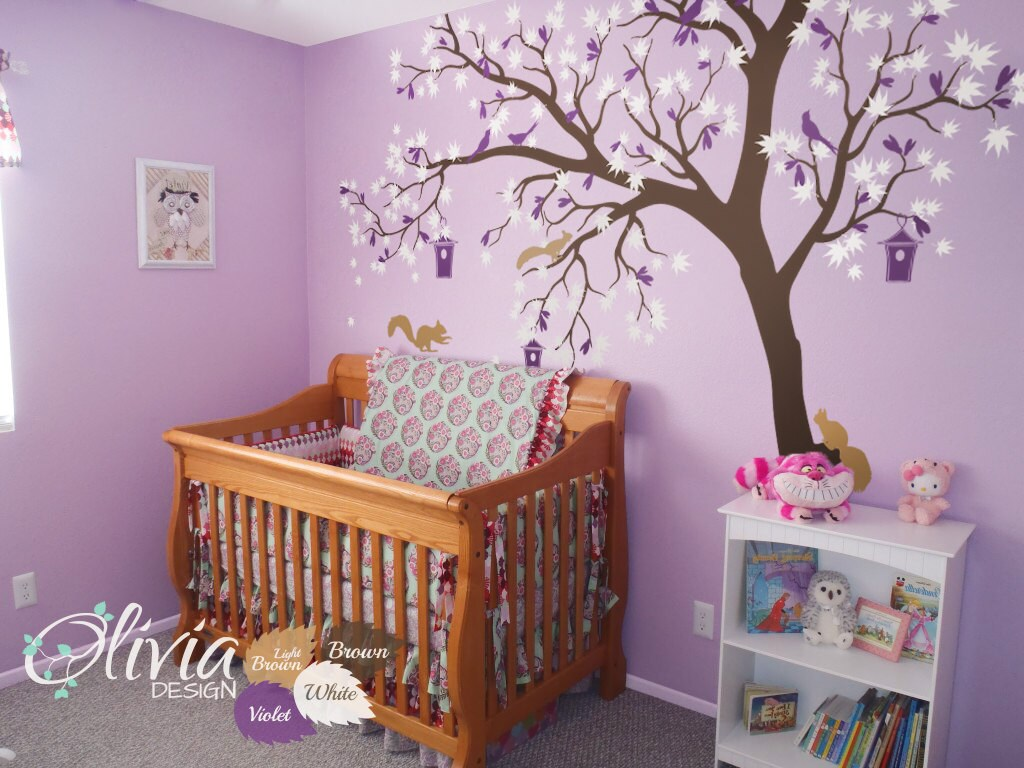 Large White tree decal Huge Tree wall decal Stickers Wall