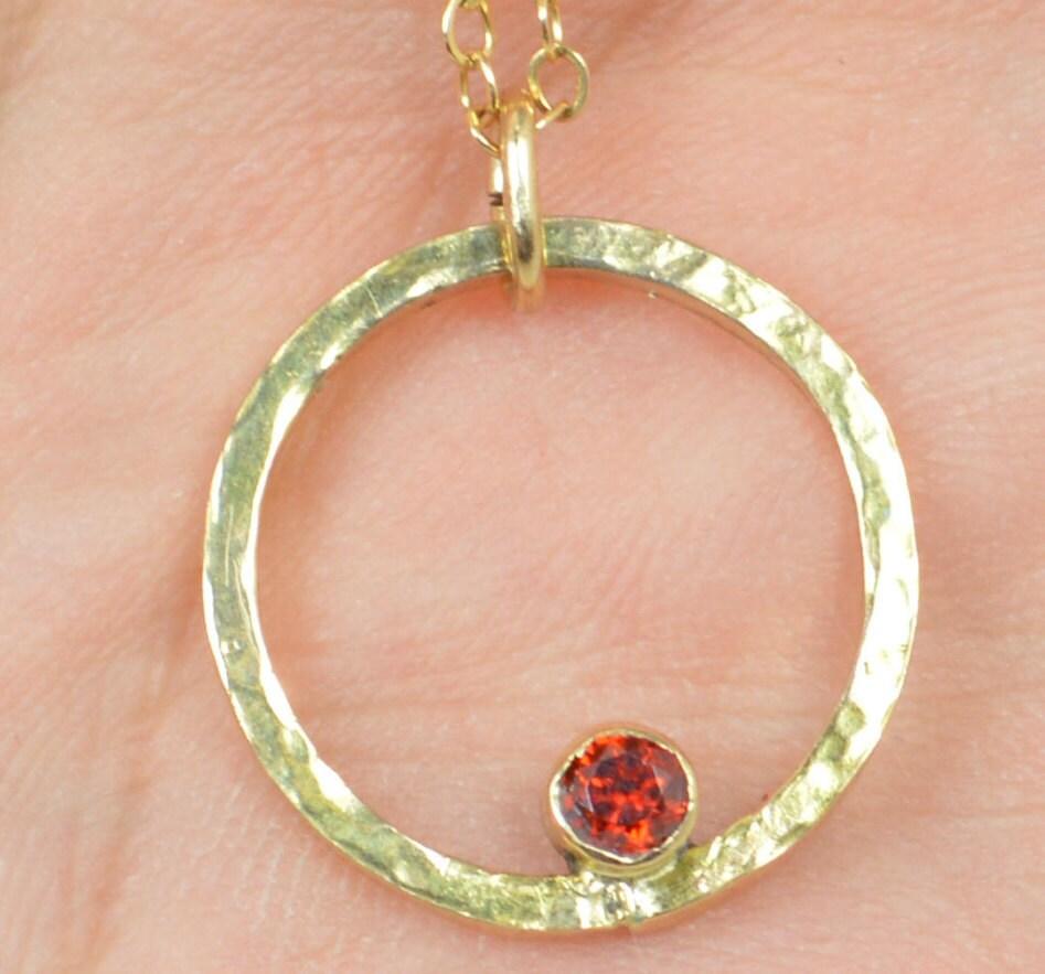solid 14k gold garnet necklace mothers necklace mom. Black Bedroom Furniture Sets. Home Design Ideas