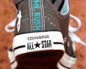 Groom's Wedding Shoes Converse Groom's Home State Wedding Converse Hand Painted Wedding Date, Groomsman Best Man gift Gift for the Groom