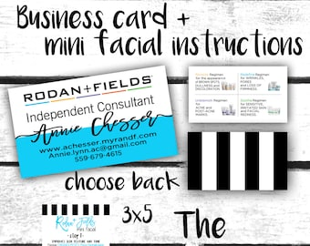 Rodan + Fields COMBO DEAL business cards + mini instructions