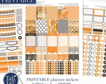 OCTOBER 3 pack for vertical Erin Condren planner. Printable stickers.