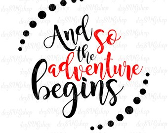 And so the adventure begins SVG and clipart | Cut File | DXF files | Design | svg files for Silhouette | svg files for Cricut