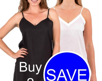 "TWO Cotton ""Ami"" Slip Dress Package - Black & White"