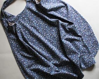 dress, pinafore dress, criss cross dress, reversible dress, dress for girl, dress for 8 years old girl, blue dress, double side dress