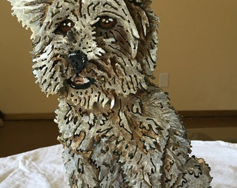 Lily The Adventurer-Immortalize Your Furry Friend in a Custom Metal Pet Portrait