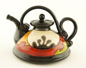 Funny teapot, ceramic teapot, pottery tea pot, tea set ceramics and pottery handmade teapot Christmas Gift Birthday Gift Handmade Pottery T