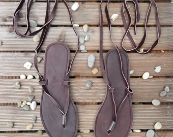 Greek sandals, leather sandals, lace-up, flip flops, thongs, strappy sandals, gladiator,  100% handmade