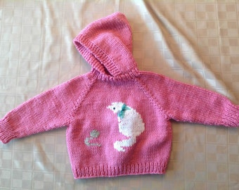 Baby Sweater - Cat & Mouse - 6-18 months