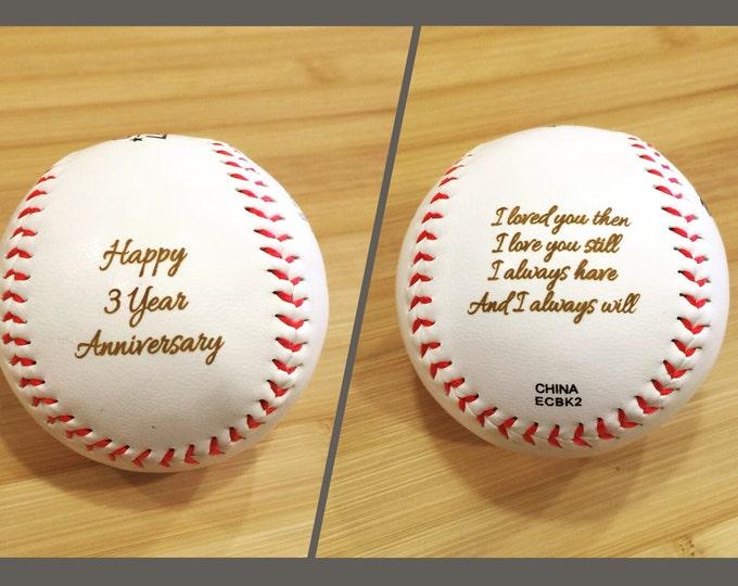 Personalized Baseball, Engraved Custom Text and Image Groomsmen Groomsman Ring Bearer Gift Wedding Favor MLB Ball, NOT vinyl