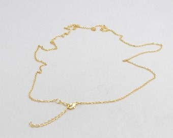 """19"""" + 2"""" Extender, 24k Matt Gold, Finished Necklace, Finish Chains , Ready Made Necklace , Flat Cable Chains ,  Rdymd , BRT566"""