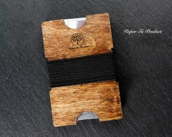 Wallet Wood Laser Cut Minimalist Groomsmen Gift Best Man Groom