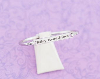 Baby's First Bracelet - Child ID Bracelet - Heirloom - New Baby Gift - Secret Message Bracelet - Cuff Bracelet - Medical Alert Bracelet