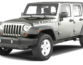 Stock Fender Replacement Decal Set Of Jeep Wrangler Sport - Jeep hood decalsmatte black jeep hood decal
