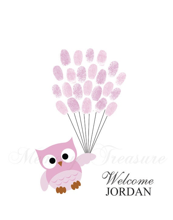 baby shower guestbook alternative owl children kid birthday owl thumb