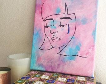 Sad Girl Painting