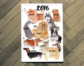 Dog lovers 2016 calendar