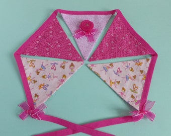 Fabric bunting - pink nursery bunting - gift for dancer - girls pink decor - ballet gift bunting - ballet wall art - dancer bunting