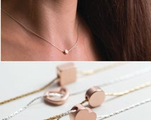 Dainty Rose Gold Necklace, Everyday Necklace, Bridal Jewelry, Bridesmaid jewelry, Rose Gold Necklace , Simple Necklace , Minimal Necklace