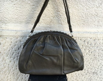40/50s Soft Leather Nappa Bag with Studs
