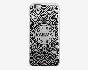 Mandala iPhone 6 Magic Karma iPhone 7 Plus Case iPhone SE Custom iPhone 7 Clear iPhone 4-5 Case iPhone 5C iPhone 7 Transparent iPhone Case